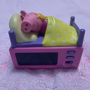 Peppa pig clock and alarm clock